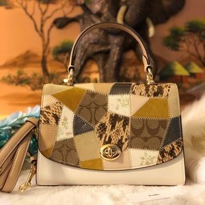 Coach Tilly Top Handle Patchwork Purse